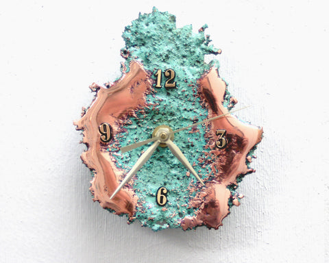 Splash Copper Desk Clock #2