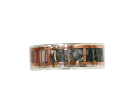 Copper Country Tri-fecta inlay ring