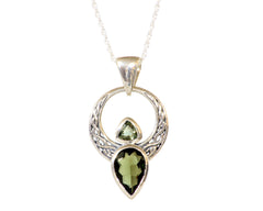 Teardrop Shaped Moldavite Pendant