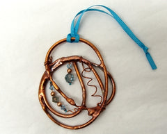 Copper Swirl Ornament
