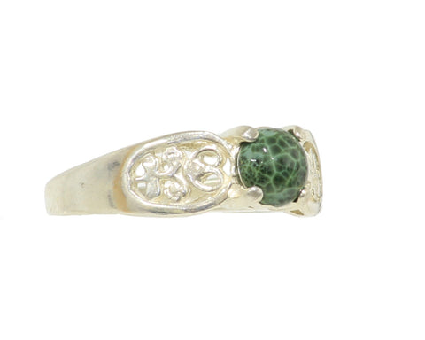 6mm Greenstone ring with Filigree setting #230