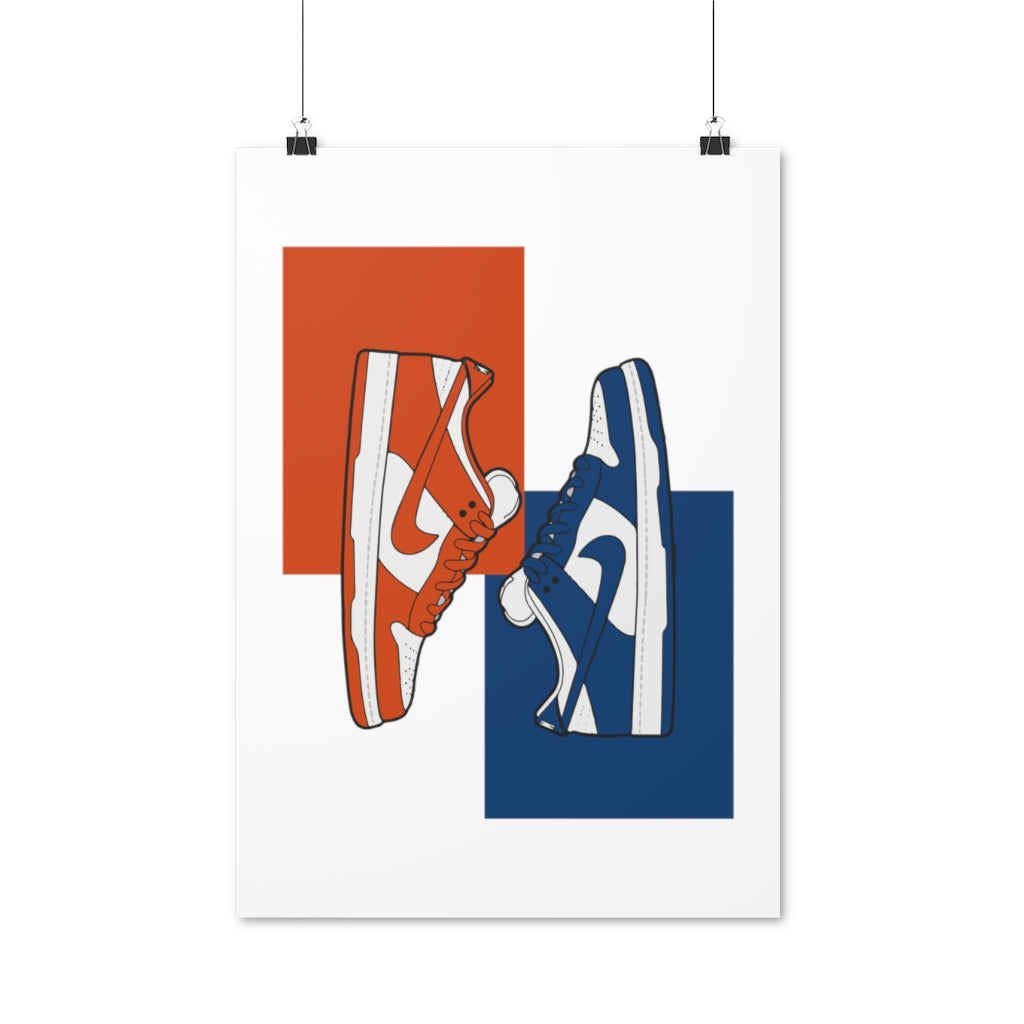 Nike Dunk Low Varsity Blue & Orange Blaze - Artliv Shop | Sneaker & Streetwear Posters