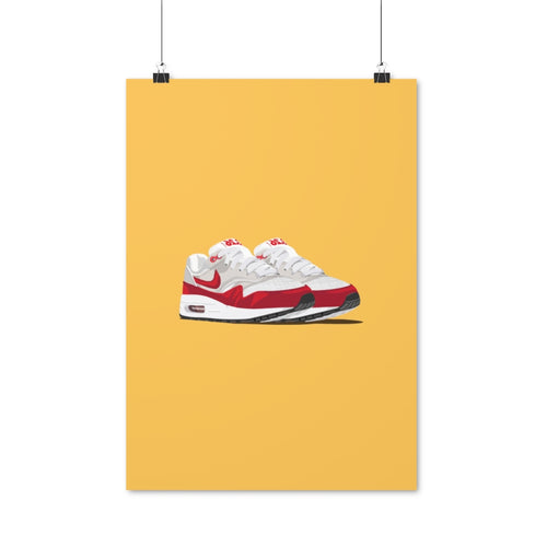 Nike Air Max 1 Anniversary White & University Red - Artliv Shop