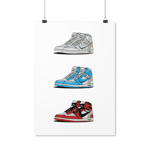 Air Jordan 1 Retro x Off-White Collection - Artliv Shop | Sneaker & Streetwear Posters