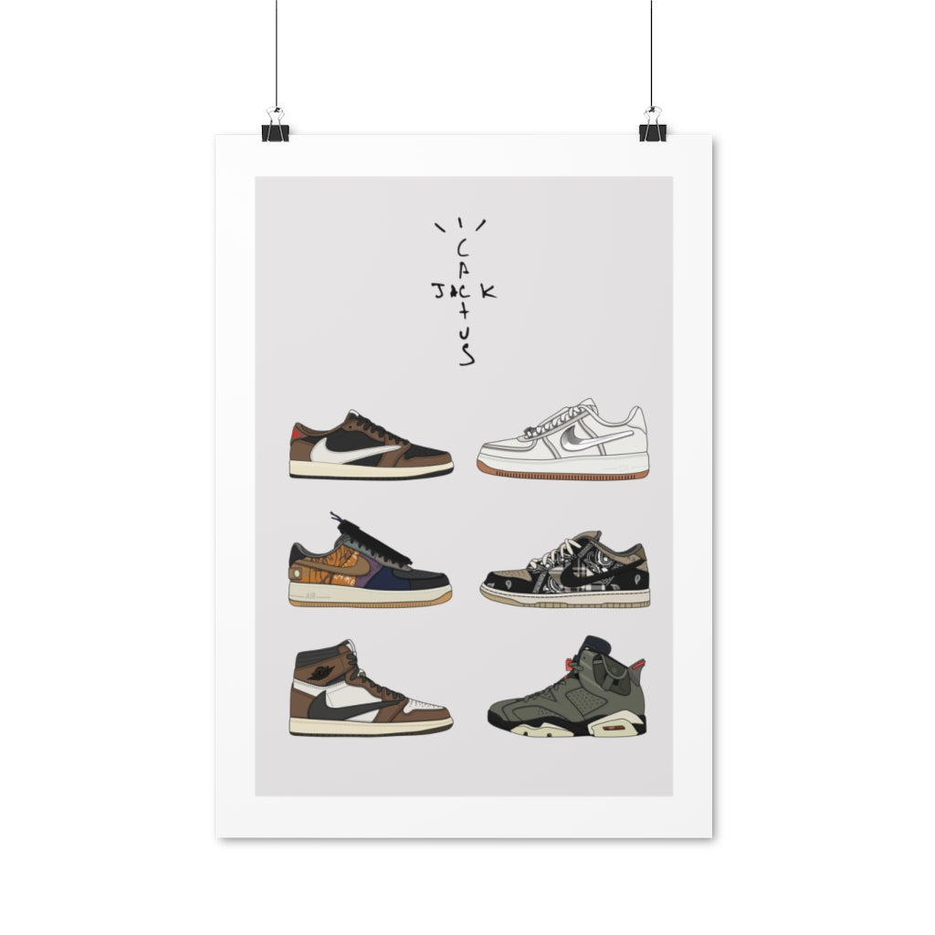 Travis Scott Sneakers Set - Artliv Shop | Sneaker & Streetwear Posters