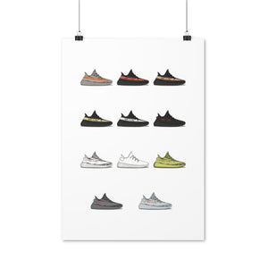 Yeezy Boost 350 V2 Collection - Artliv Shop | Sneaker & Streetwear Posters