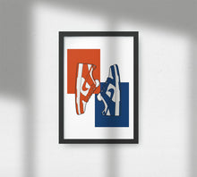Load image into Gallery viewer, Nike Dunk Low Varsity Blue & Orange Blaze - Artliv Shop | Sneaker & Streetwear Posters