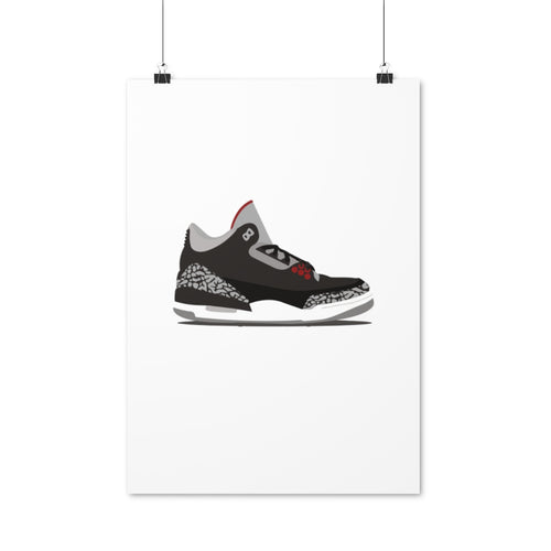 Air Jordan 3 Black Cement - Artliv Shop
