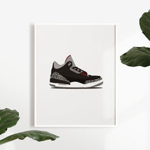 Laden Sie das Bild in den Galerie-Viewer, Air Jordan 3 Black Cement - Artliv Shop | Sneaker & Streetwear Posters