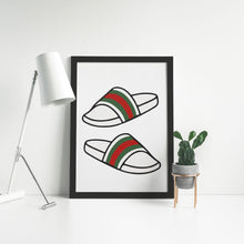 Laden Sie das Bild in den Galerie-Viewer, Gucci Slides - Artliv Shop | Sneaker & Streetwear Posters