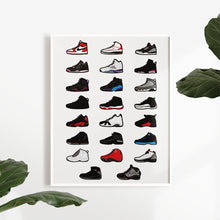 Laden Sie das Bild in den Galerie-Viewer, Air Jordan Collection - Artliv Shop | Sneaker & Streetwear Posters