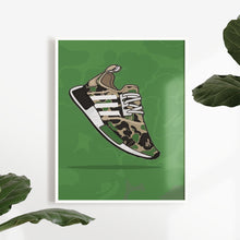 Load image into Gallery viewer, Adidas NMD R1 Bape Olive - Artliv Shop | Sneaker & Streetwear Posters