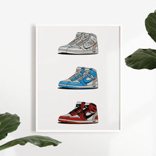 Laden Sie das Bild in den Galerie-Viewer, Air Jordan 1 Retro x Off-White Collection - Artliv Shop | Sneaker & Streetwear Posters