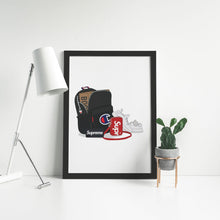 Load image into Gallery viewer, Champion, Supreme & Yeezy Fit - Artliv Shop | Sneaker & Streetwear Posters