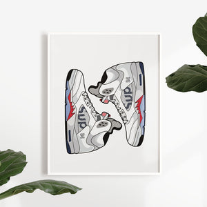 Air Jordan 5 x Supreme - Artliv Shop