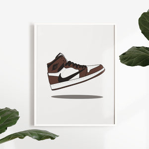 Air Jordan 1 Retro High Travis Scott - Artliv Shop | Sneaker & Streetwear Posters