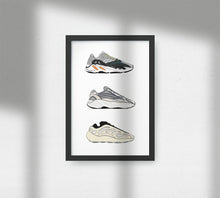 Load image into Gallery viewer, Yeezy Boost 700 V1, V2 & V3 - Artliv Shop | Sneaker & Streetwear Posters