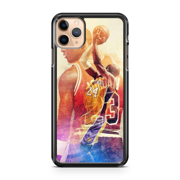 MJ KB Basketball Legends Lakers iPhone 11 Pro Max Case Cover