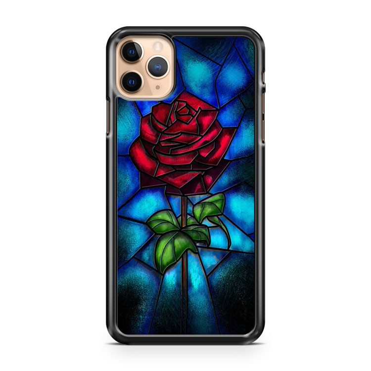 Rose Flower Stained Glass iPhone 11 Pro Max Case Cover