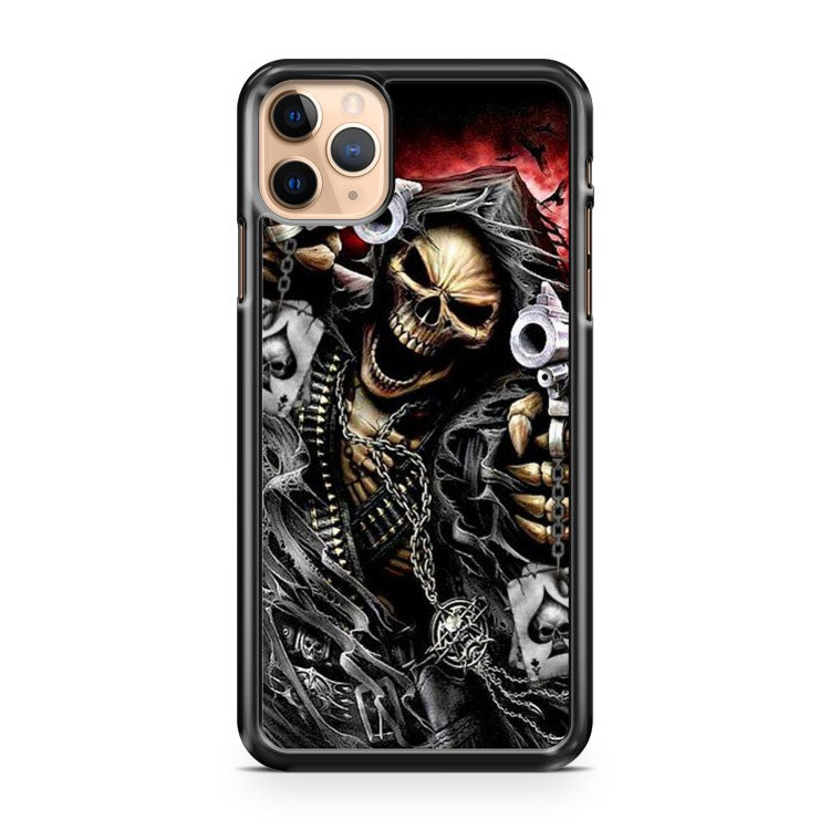 Skull Grim Reaper Poker iPhone 11 Pro Max Case Cover