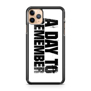 A DAY TO REMEMBER LOGO iPhone 11 Pro Max Case Cover | CaseSupplyUSA