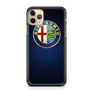 Alfa Romeo Logo Metal Grid iPhone 11 Pro Max Case Cover | CaseSupplyUSA