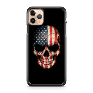 American Flag Skull 18 iPhone 11 Pro Max Case Cover | CaseSupplyUSA