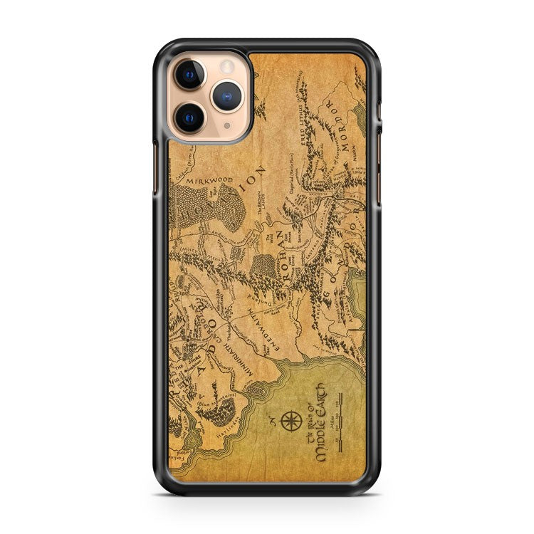 Middle Earth Map 2 iPhone 11 Pro Max Case Cover