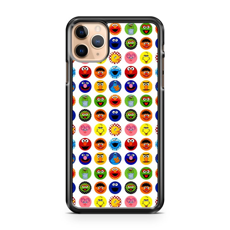 sesame street sticker labels iPhone 11 Pro Max Case Cover