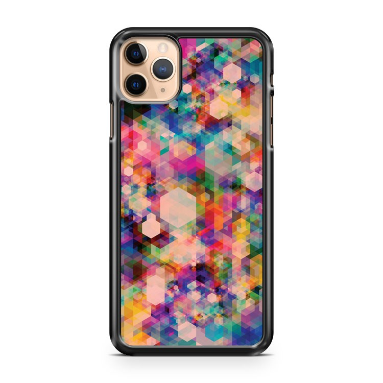Abstract Mosaic Geometric Print iPhone 11 Pro Max Case Cover | CaseSupplyUSA