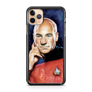 CAPTAIN PICARD PORTRAIT STAR TREK ART iPhone 11 Pro Max Case Cover | CaseSupplyUSA