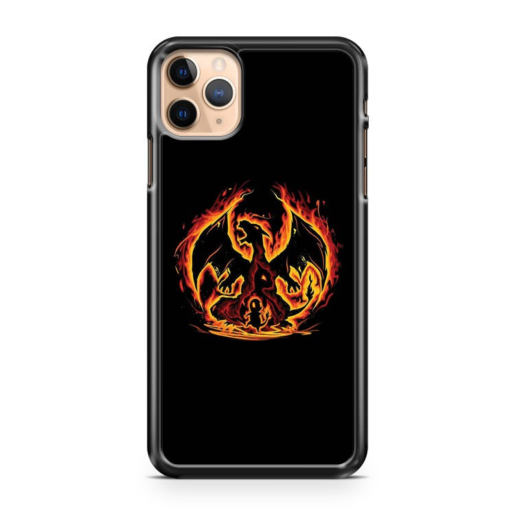 CHARIZARD FIRE EVOLUTIONS COOL DESIGN iPhone 11 Pro Max Case Cover | CaseSupplyUSA