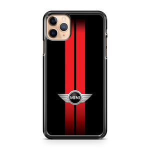 MINI COOPER STRIPES BLACK and RED iPhone 11 Pro Max Case Cover