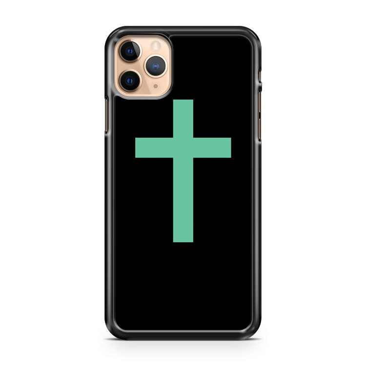 Mint Cross iPhone 11 Pro Max Case Cover