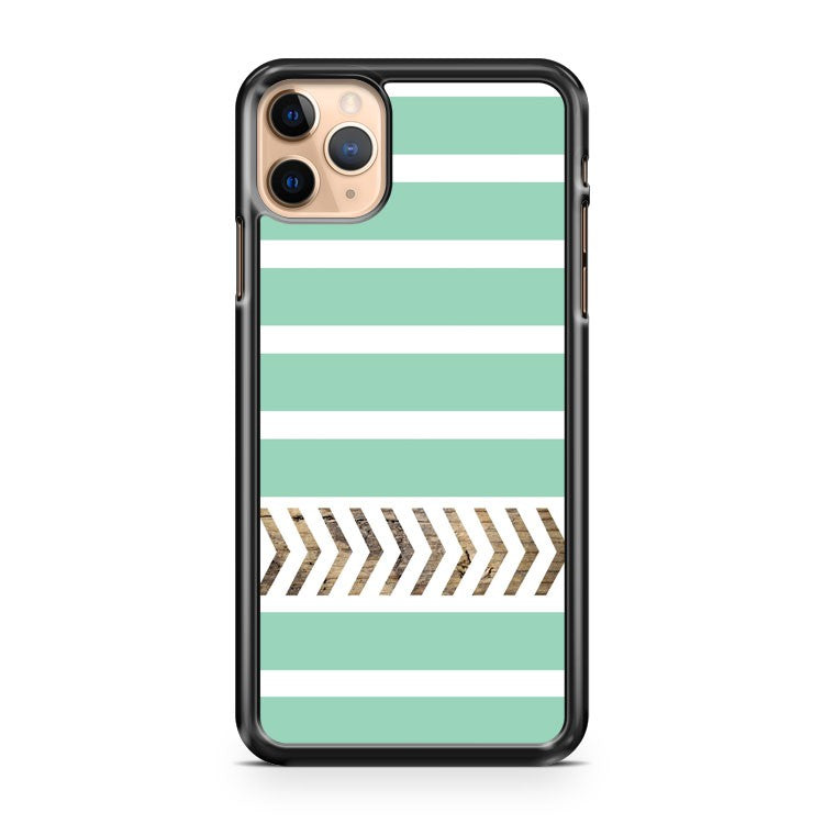 Mint Stripes And Arrows iPhone 11 Pro Max Case Cover