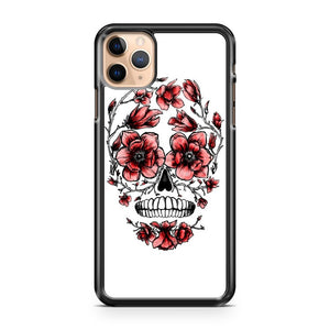 Abstract Cool Skull with Flowers iPhone 11 Pro Max Case Cover | CaseSupplyUSA