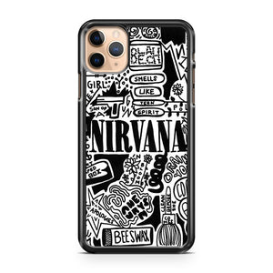 American Hippie Music Collage Art Nirvana Lyrics iPhone 11 Pro Max Case Cover | CaseSupplyUSA