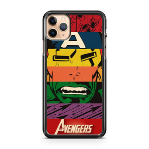 Cartoon Avengers Superheroes Comics iPhone 11 Pro Max Case Cover | CaseSupplyUSA