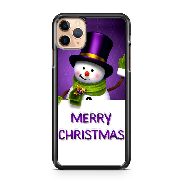 Cartoon snowman iPhone 11 Pro Max Case Cover | CaseSupplyUSA