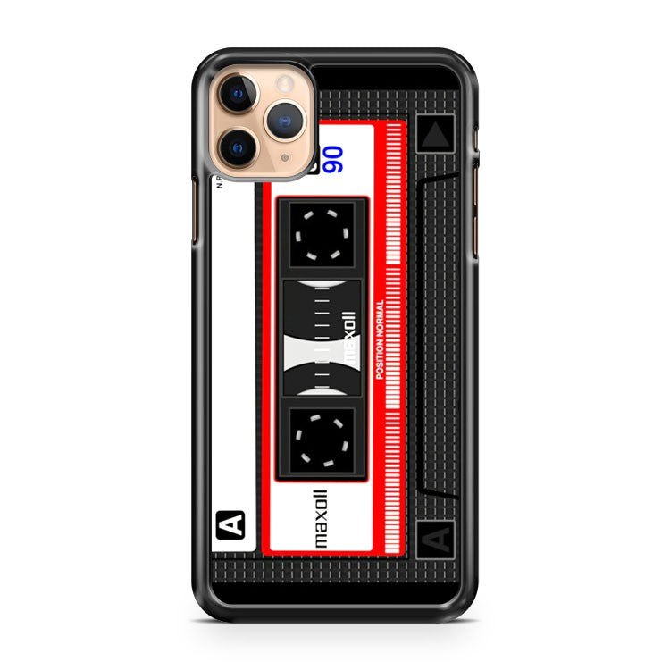 Cassette Tape Pattern iPhone 11 Pro Max Case Cover | CaseSupplyUSA