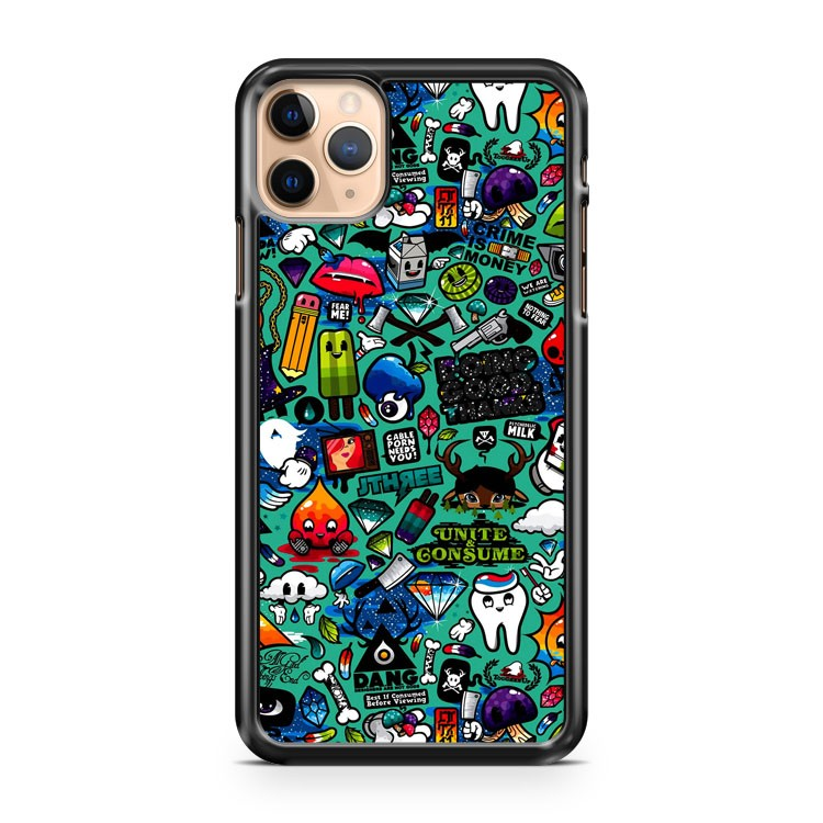 New Cute Cartoon Monster Graffiti iPhone 11 Pro Max Case Cover