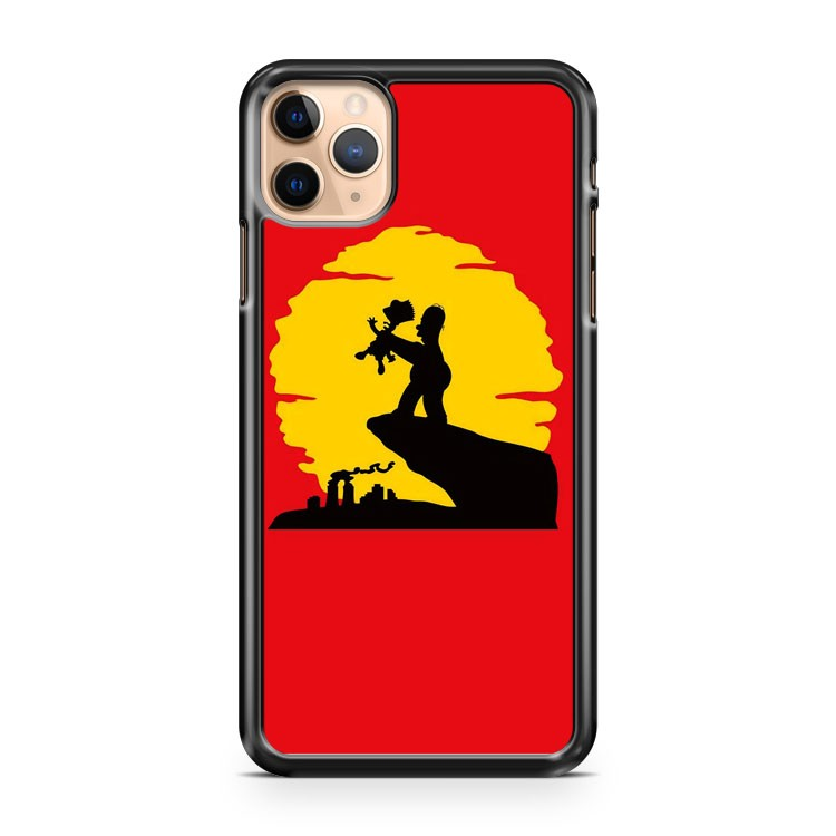 Simpsons parody of The Lion King iPhone 11 Pro Max Case Cover