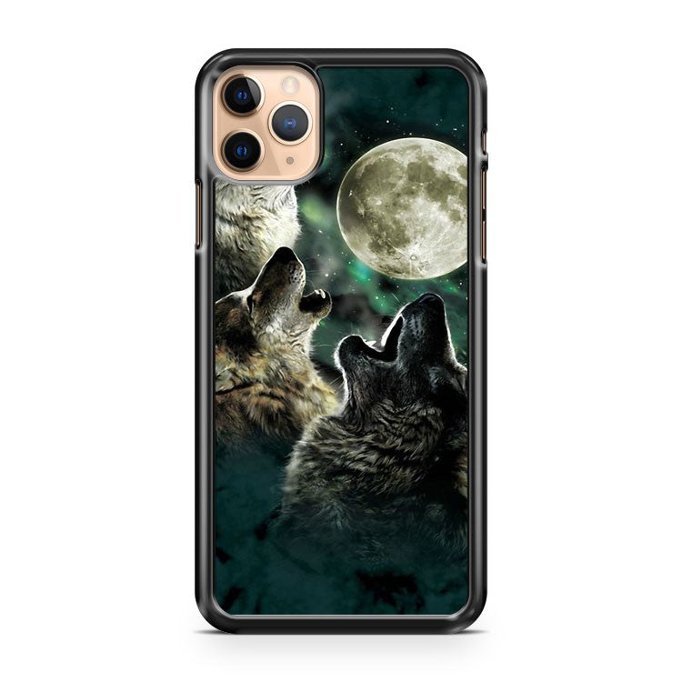 3 Wolves Howling At Moon iPhone 11 Pro Max Case Cover | CaseSupplyUSA