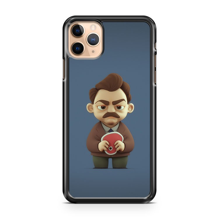 3d version of ron swanson parks and recreation iPhone 11 Pro Max Case Cover | CaseSupplyUSA