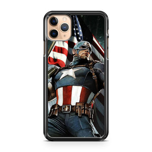 captain america flag iPhone 11 Pro Max Case Cover | CaseSupplyUSA