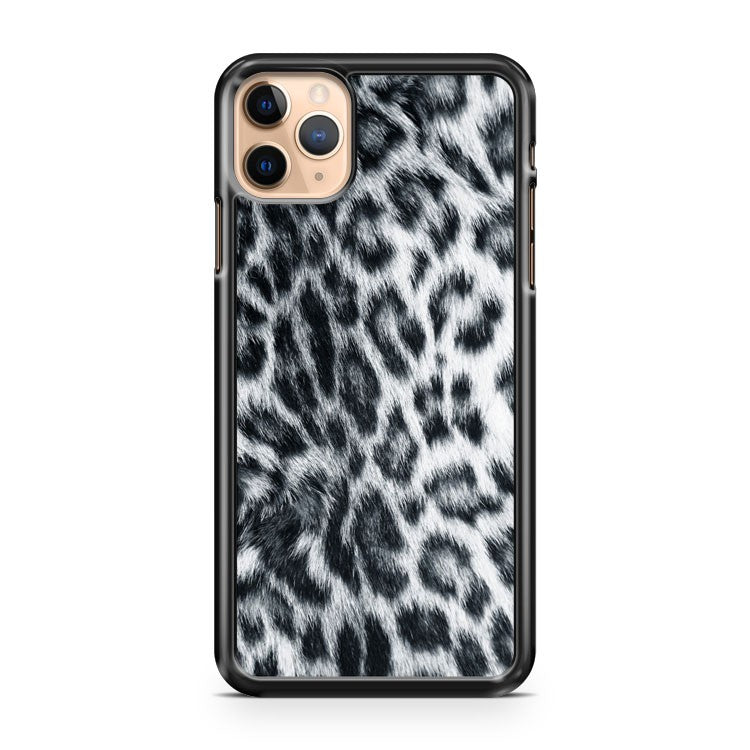 Snow Leopard Fur Pattern Print 2 iPhone 11 Pro Max Case Cover