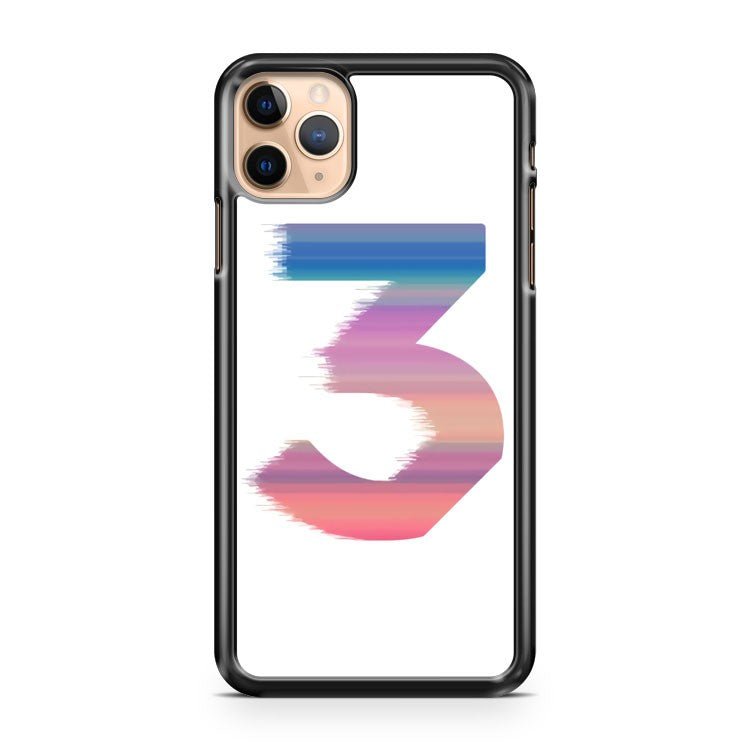 Chance The Rapper 3 Color Logo iPhone 11 Pro Max Case Cover | CaseSupplyUSA