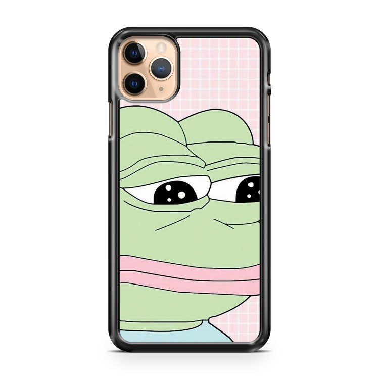 aesthetic pepe 3 iPhone 11 Pro Max Case Cover | CaseSupplyUSA