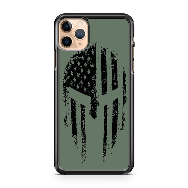 American Spartan Warrior USA Flag Military Veteran Patriotic iPhone 11 Pro Max Case Cover | CaseSupplyUSA