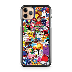 A Set Of Posters And Stickers Of Cartoon iPhone 11 Pro Max Case Cover | CaseSupplyUSA